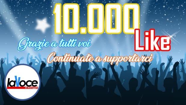 10.000 like raggiunti su FaceBook. Grazie siete in tanti