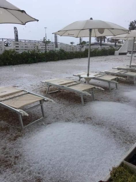 Campomarino di Maruggio: Le impressionanti immagini del temporale di ieri