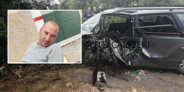 Incidente stradale San Pietro - Avetrana: la vittima un 35enne originario di Sava