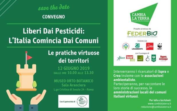 A Roma in conferenza 70 comuni liberi da pesticidi chiedono al governo di cambiare le regole