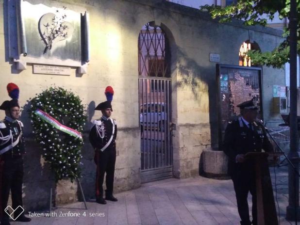 Francavilla Fontana - Cerimonia di commemorazione del Maresciallo dei Carabinieri Antonio Dimitri