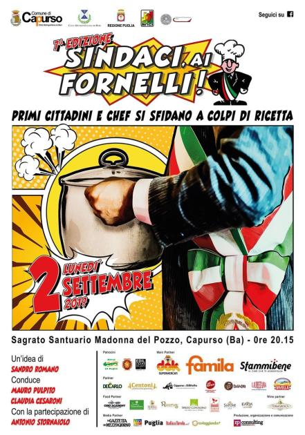 """""""Sindaci, ai Fornelli!"""" Tutto pronto per la VII Edizione"""