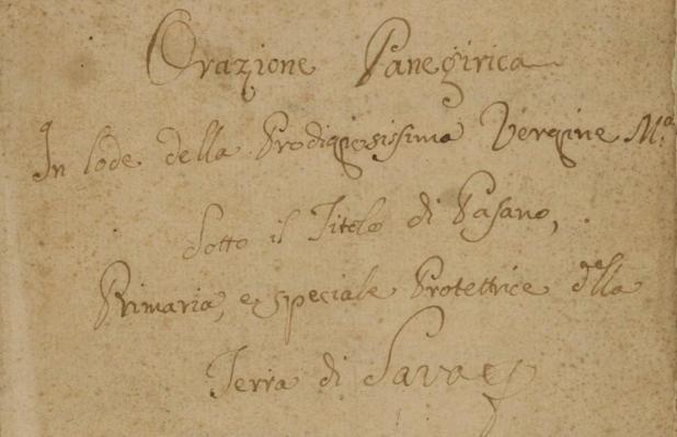 Propaganda miracolistica sulla Madonna di Pasano (Sava): alcuni stralci di un manoscritto ottocentesco