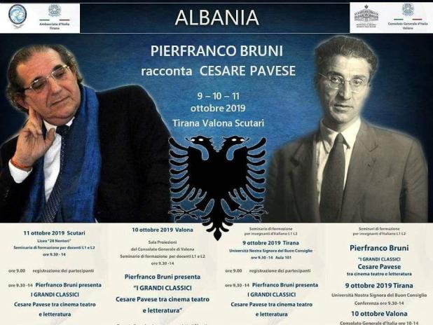 Settimana della Lingua Italiana nel Mondo: Pierfranco Bruni a Tirana, Scutari e valona per la italianità nel mondo racconta Pavese
