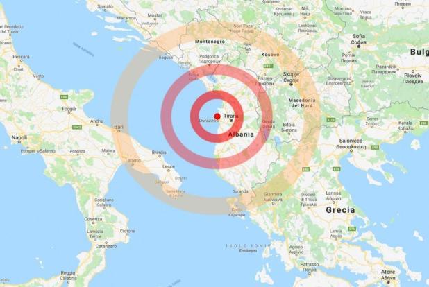 Albania, terremoto di magnitudo 6.5: almeno 150 feriti, sentita fortemente anche in Puglia e tutto il Sud Italia
