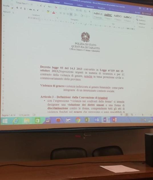 """Presso l'Aula Magna """"G. Russo"""" dell'Istituto Cabrini di Taranto è proseguito il Progetto """"Lavoro e Discriminazione"""" Oggi come Ieri – Percorsi di Parità"""