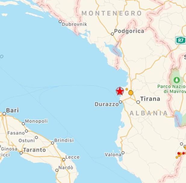 Terremoto in Albania avvertito anche in Puglia