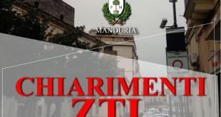 MANDURIA, ZTL in avaria. Chiarimento sul funzionamento della ZTL.