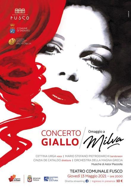 Tributo a Milva, c'è il pubblico giovedì 13 maggio al Teatro Comunale Fusco di Taranto