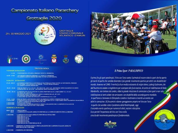 XXIII Campionato Italiano Para-Archery – Grottaglie 2020