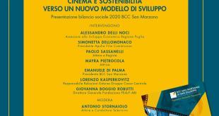 """BCC San Marzano""""Cinema e sostenibilità, verso un nuovo modello di sviluppo."""""""