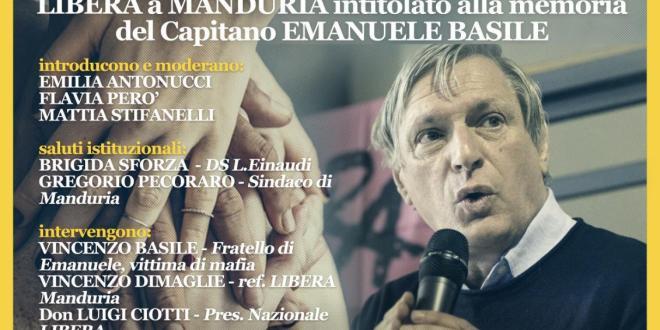 Don Luigi Ciotti inaugura il Presidio di Libera Manduria