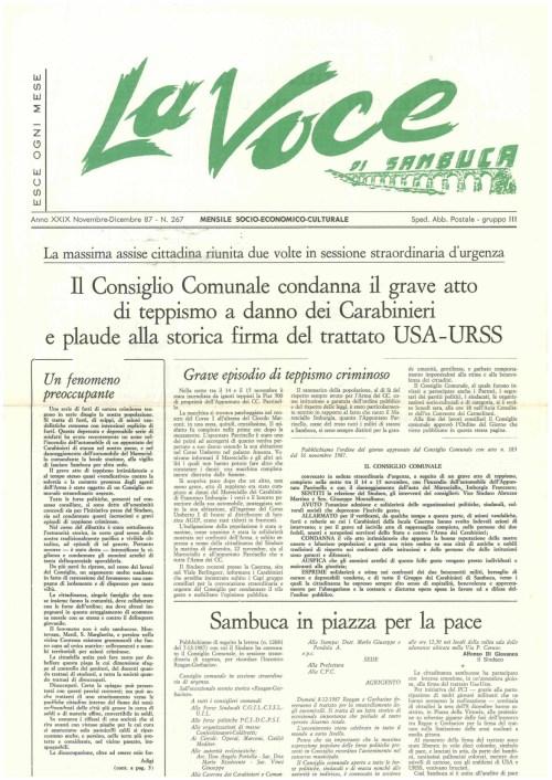 ANTEPRIMA N.267 Novembre Dicembre  1987