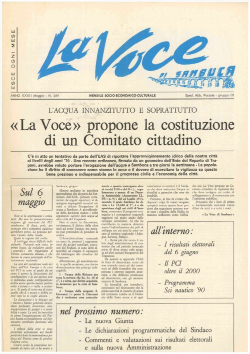 ANTEPRIMA N.289 Maggio 1990