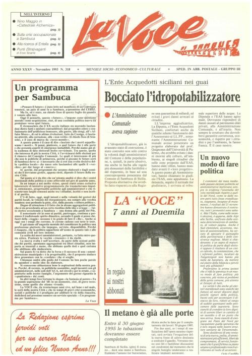 ANTEPRIMA N.318 Novembre  1993