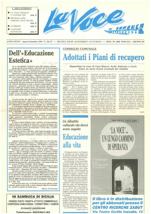 ANTEPRIMA N.326 - 327 Agosto Settembre 1994