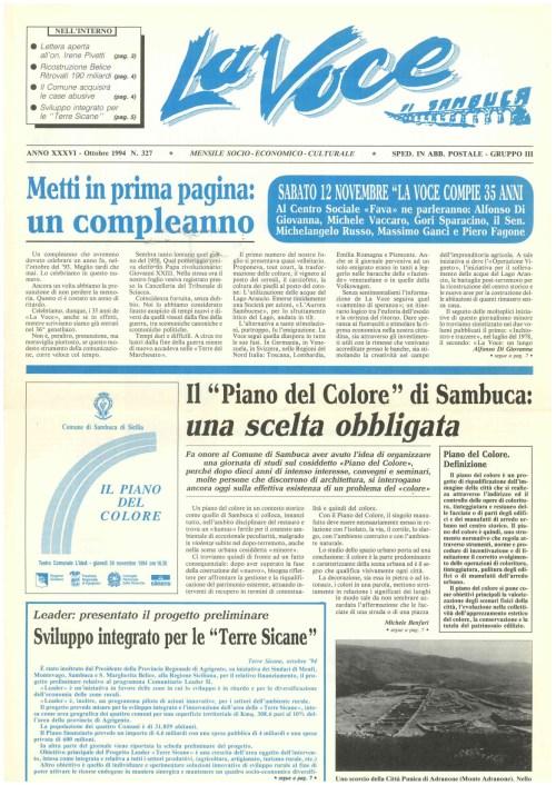 ANTEPRIMA N.327  Ottobre 1994