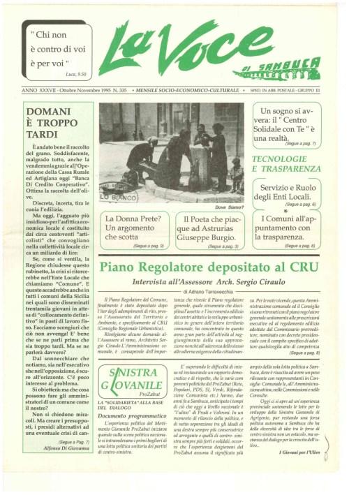 ANTEPRIMA N.335 Ottobre Novembre 1995