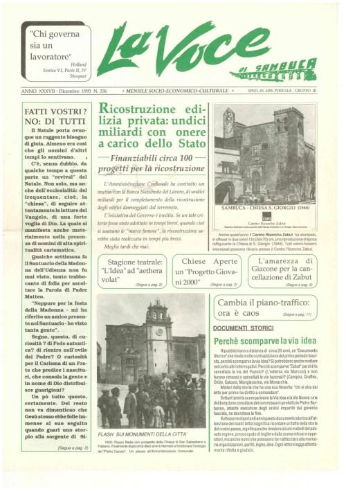 ANTEPRIMA N.336 Dicembre 1995