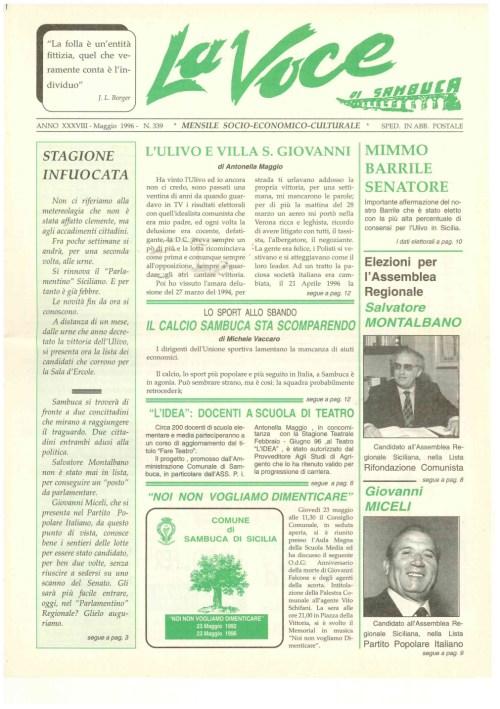 ANTEPRIMA N.339 Maggio 1996
