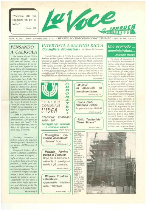 ANTEPRIMA N.342 Ottobre Novembre 1996