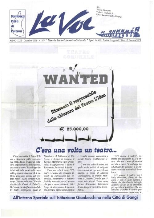 ANTEPRIMA N.375 Dicembre 2001