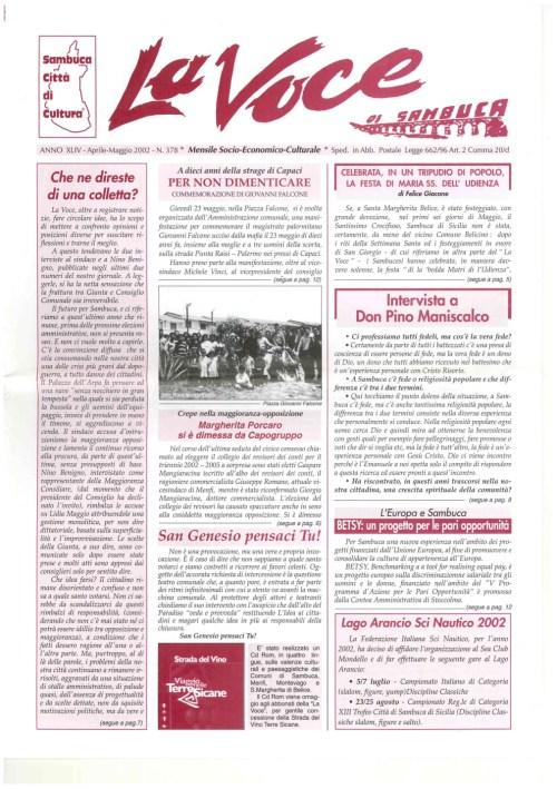ANTEPRIMA N.378 Aprile Maggio 2002