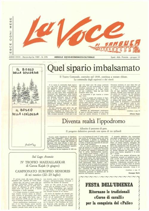 ANTEPRIMA N.278 Marzo Aprile 1989