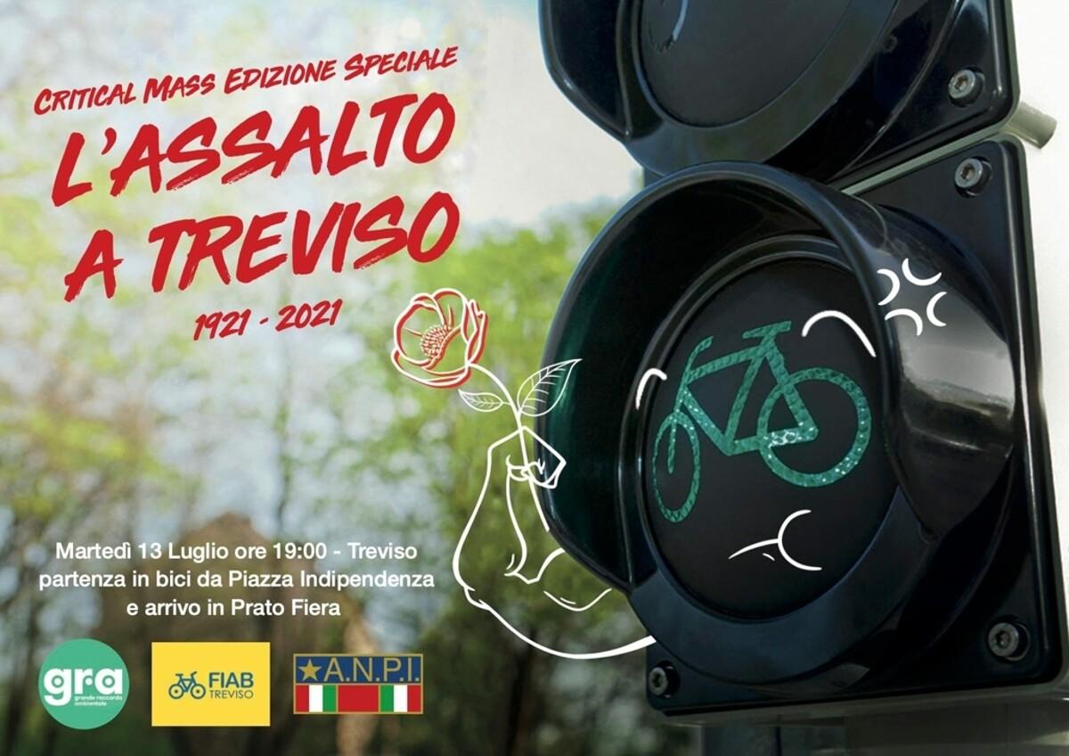 """Pedali resistenti – Critical mass edizione """"L'assalto a Treviso! 1921 – 2021″"""