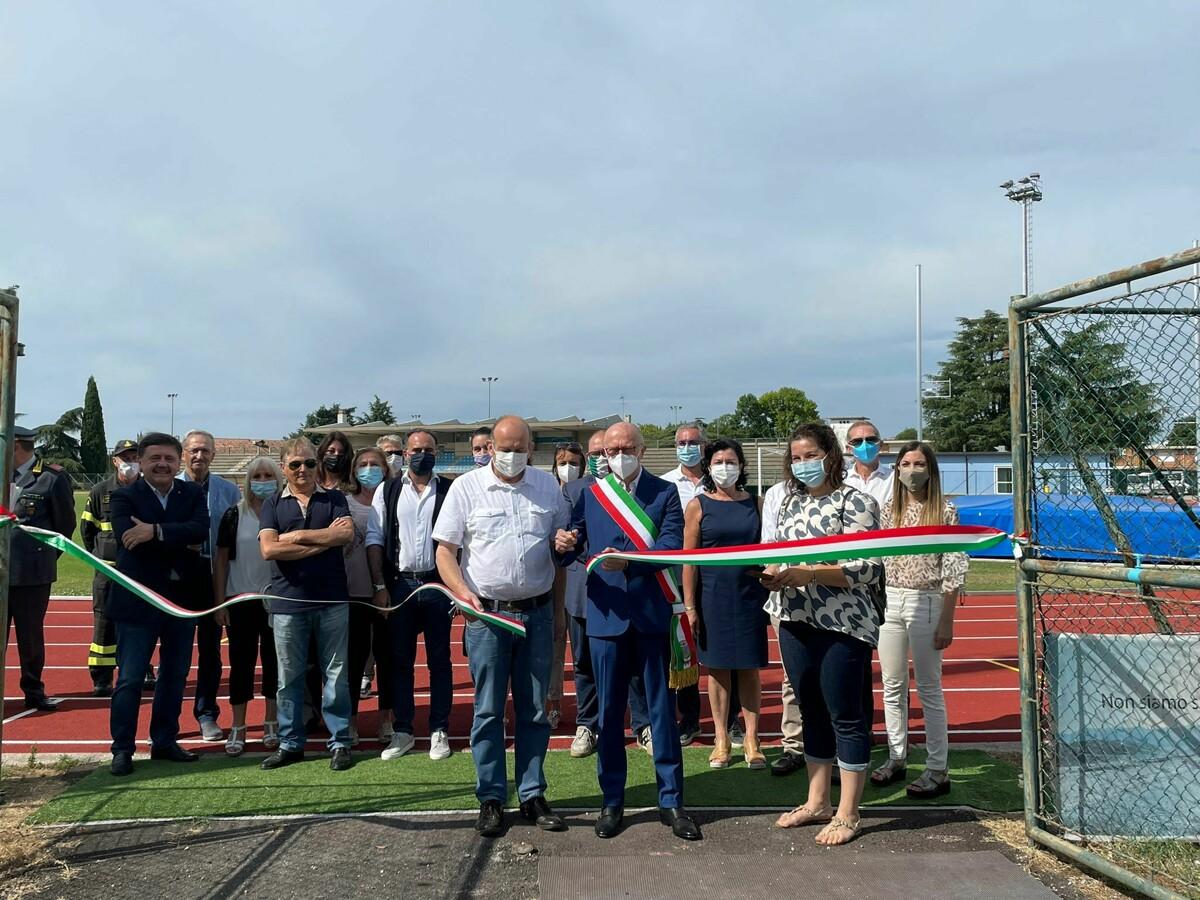 Montebelluna, inaugurata la pista di atletica rimessa a nuovo