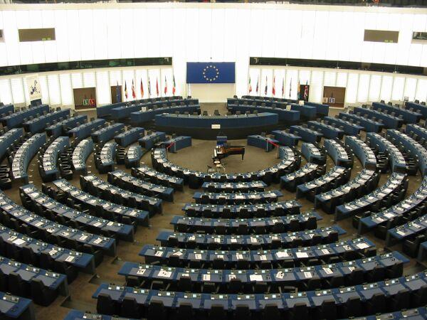 Une vue interne du Parlement européen à Strasbourg.