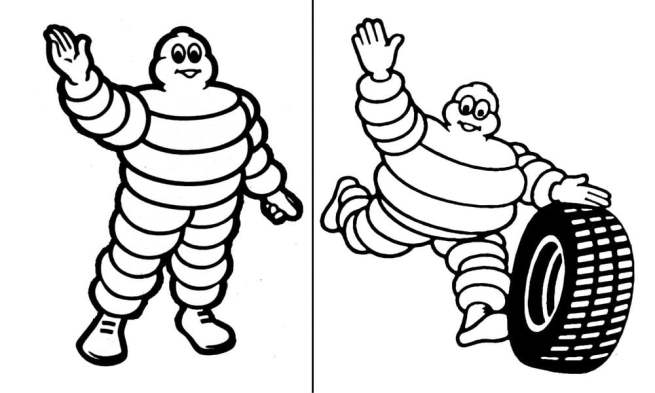 NEW AND OLD MICHELIN LOGO