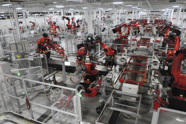 L'usine Tesla de Fremont, Californie