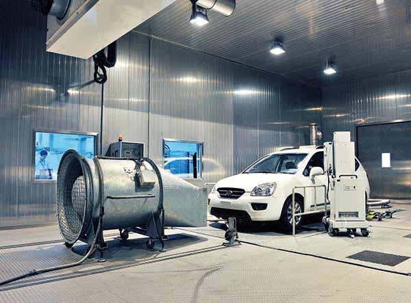 test emission CO2