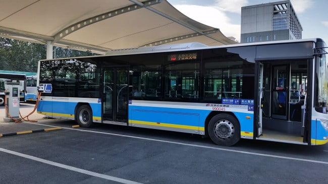 station de recharge bus électrique en chine