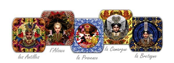 Boites designées par Christian Lacroix pour une célèbre marque de serviettes...
