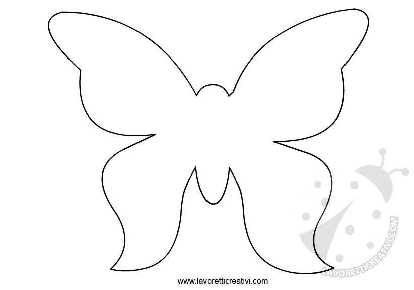 Vestiti da battesimo per bimbo Sagome farfalle da ritagliare