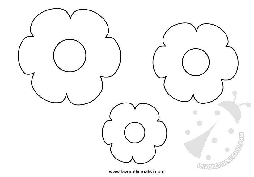 Sagome fiori da ritagliare for Disegni da stampare e colorare fiori