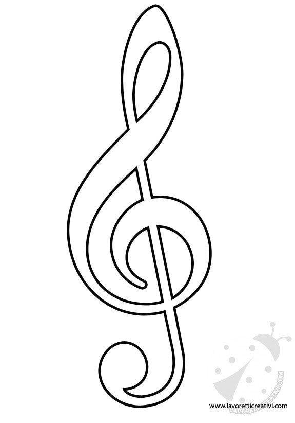Catalogo Kleurplaat Sagome Note Musicali Lavoretti Creativi