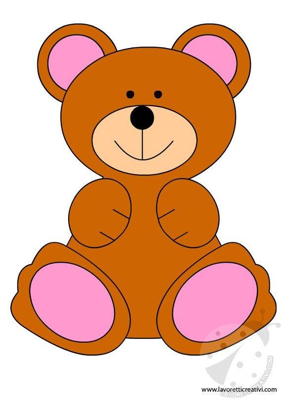 Come realizzare un orsetto sagome for Disegno orso per bambini