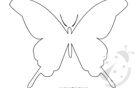 cartamodello farfalla da stampare