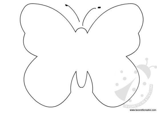 Farfalle disegni da colorare per bambini migliori pagine for Immagini farfalle da ritagliare