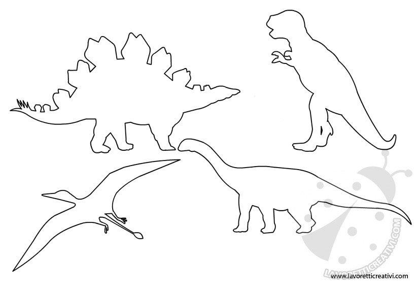 Sagome di dinosauri da ritagliare for Disegni da colorare dinosauri