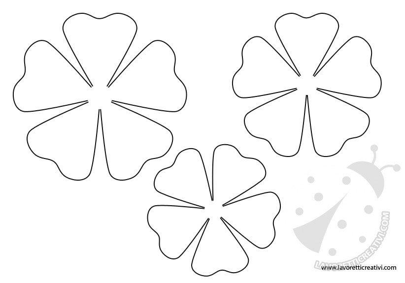 Sagome fiori da stampare for Fiori grandi da colorare
