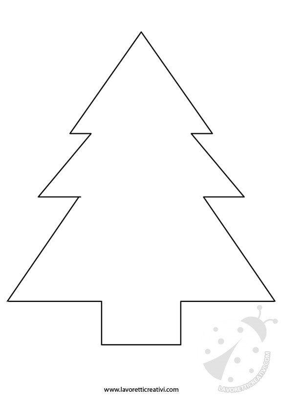 Albero di Natale sagome per lavoretti