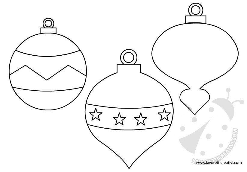 Estremamente Palline di Natale - Sagome per lavoretti XE81
