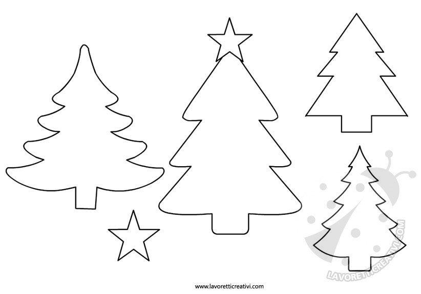 Sagome natale sagoma utile per realizzare una decorazione di carta, di compensato o di feltro da attaccare alle porte e ai … Albero Di Natale Sagome Per Lavoretti Lavoretti Creativi