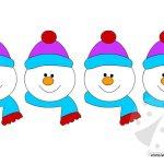 Inverno – Festone con pupazzi di neve