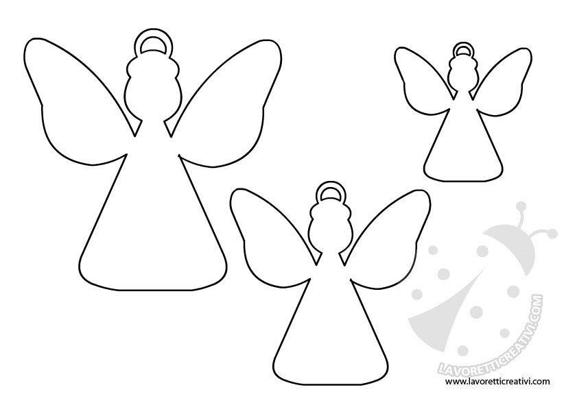 Sagome per decorazioni natale 5 for Angeli da colorare stampare