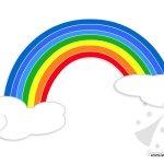 Arcobaleno: sagome da ritagliare